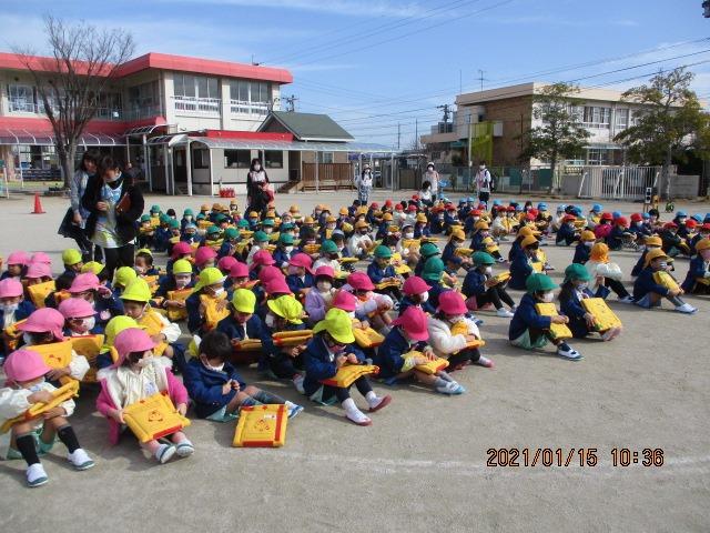 【幼稚園の様子】地震避難訓練